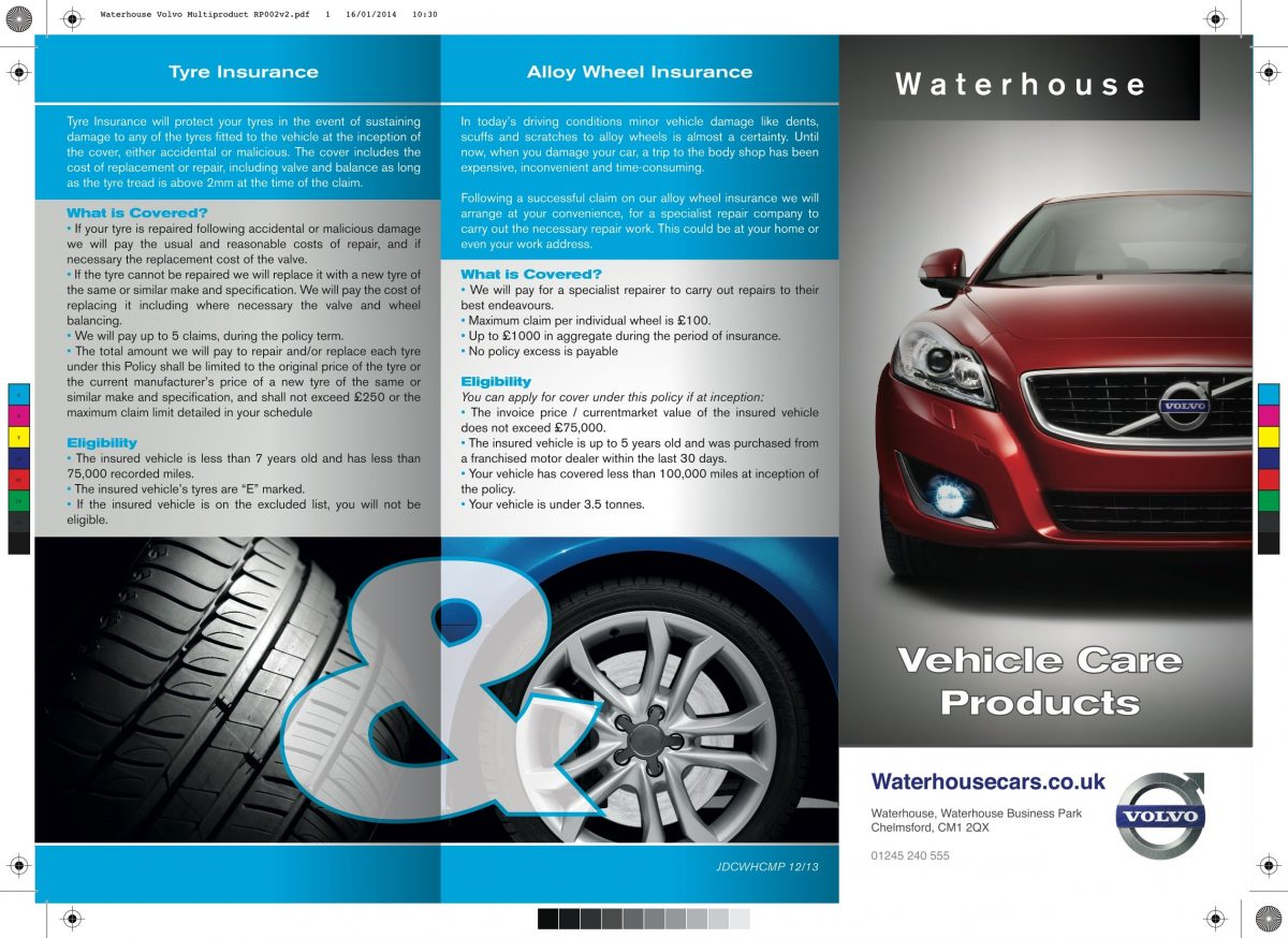 A4 Folded Leaflet Design - Waterhouse Volvo