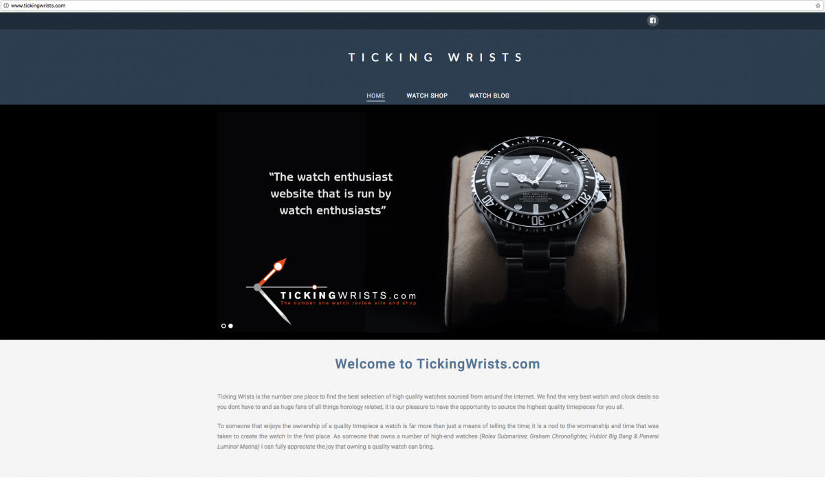 Ticking Wrists Banner Design