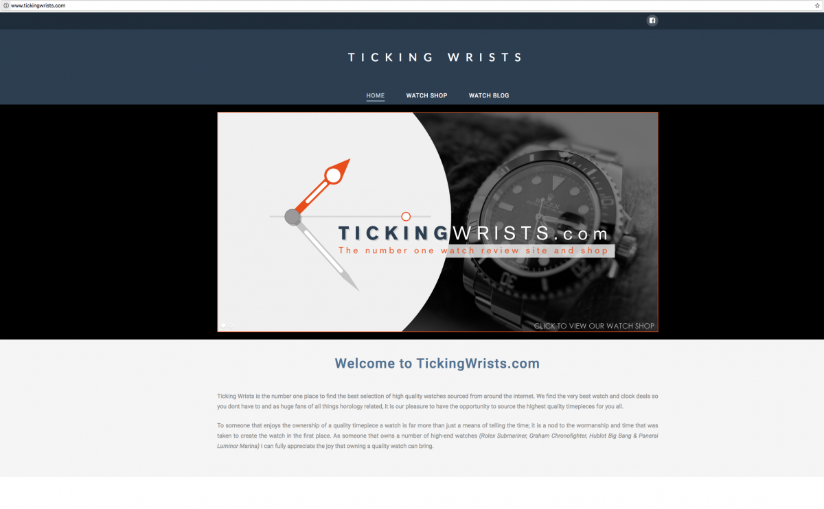 Ticking Wrists Website Design